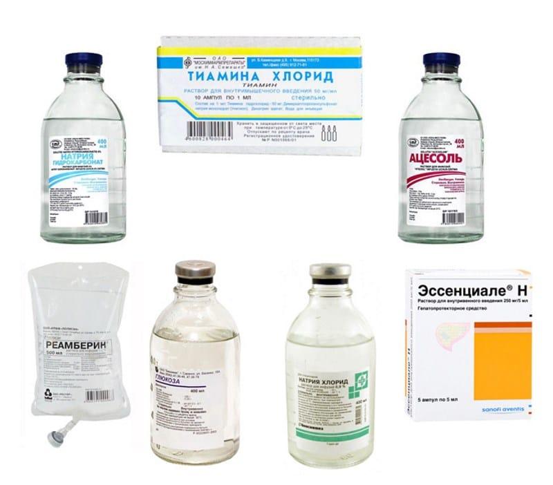 Препараты для капельницы при алкогольной интоксикации