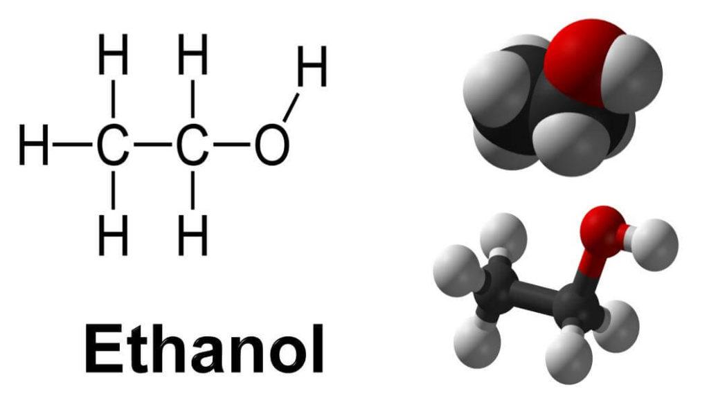 Структурная формула этанола